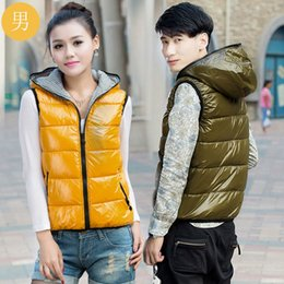 Wholesale Thin Face Pads - Wholesale-Free shipping 2016 Korean winter plus thickened significantly thin fashion leisure bright face down cotton padded jacket Vest
