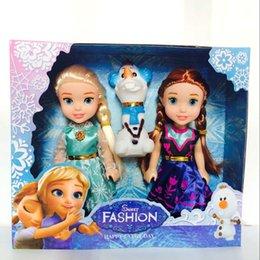 Wholesale American Girl Birthday Gifts - 16cm Children's toy doll American girl doll Elsa Anna Olaf Hot toys Girl birthday gift Christmas gift