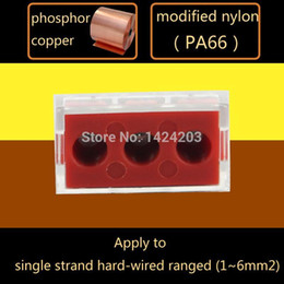 Wholesale Push Wire Terminal - 50pcs lot Wire connector 773-173 Push Wire Wiring 2.5-6 Flat&Hard wire 3Way 3 Pin Large Current Terminal Block AWG 14-10