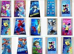 Wholesale Cartoon Girls Bath Towels - 62 Styles The Avengers superhero Batman towel mickey towels princess Printed Cotton Towel Baby Cartoon Bath Towels Kids Beach Towels