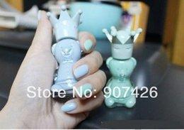 Wholesale Bear Nail Polish - Free shipping wholesale Crown bear nail polish 60pcs  lot 1019#19