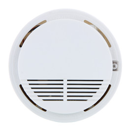 fire security alarm Coupons - Wireless Fire Smoke detector sensor alarm Home Security System White in retail package dropshipping 200pcs lot