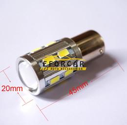 Cree lampadine auto online-200 pz / lotto auto 12 SMD 5630 +1 CREE LED 1156 BA15S P21W Indicatore di direzione luce strumento lampadina spia lampada freno 12V