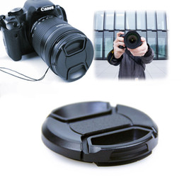 Wholesale Wholesales Scopes - New 58mm Front Lens Cap Hood Cover Snap For Canon Sony Olympus Nikon Camera
