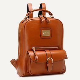 Wholesale Ipad Zipper - Backpacks School Bags Backpacks Korea Leather Travel Backpack Ipad Bag Multi 5 Colors Hot Sale Free Shipping