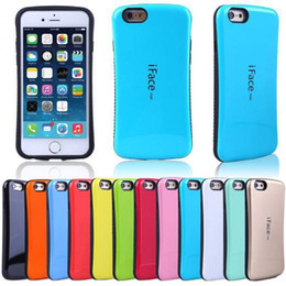 Wholesale Galaxy Case Korea - Hot sale cases for iPhone 5S 6 plus Samsung Galaxy S6 S5 S4 iFace mall Candy Color Soft Korea style case Free shipping