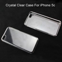 Wholesale Iphone 5c Cases Fast Shipping - Fast DHL Free Ship New Arrival Clear Case For iPhone 5c Crystal Shell Plastic Protective Cover For 5c White Free ship 100pcs lot
