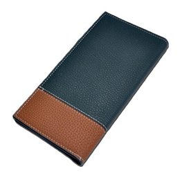 Wholesale Leather Long Billfolds - S5Q Mens Waterproof Leather Fashion Business Bifold Long Billfold Handbag Wallet AAAFID