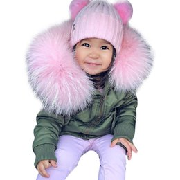 Wholesale Cute Winter Coats For Girls - 2017 NEW Hot sales fashion children girls hooded cotton-padded coats fur baby kids zipper outwear for 1-6T