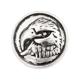 Wholesale Eagle Charm Antique - NSB2104 Hot Sale Snap Buttons Jewelry 18mm Buttons Fashion DIY Charms Eagle Snaps Antique Metal Buttons