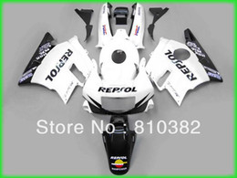 Wholesale White Repsol Fairings - Custom panel kit for CBR600F2 CBR 600 CBR 600 F2 1991 1992 1993 1994 91 92 993 94 REPSOL white blk motorcycle fairing