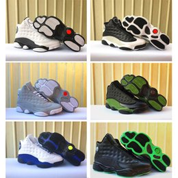 Wholesale blue reflective fabric - 2018 13 OG Love & Respect Men Basketball Shoes Black Green White Black blue Grey 3M Reflective Outdoor Classic Trainner Sneakers Size8-13
