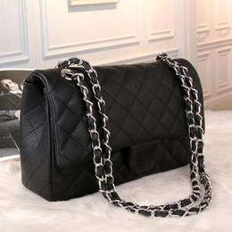 Wholesale Double Flap Purse - women double flap bag classic shoulder bags France luxury brand chain crossbody bag designer leather handbags female purse bags famous