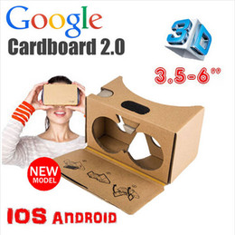 Wholesale V2 Android - Google Cardboard 2.0 V2 3D Glasses VR Valencia Quality Max Fit 6 Inch for Smartphone IOS Android iphone 6 6S plus 5S S6 edge