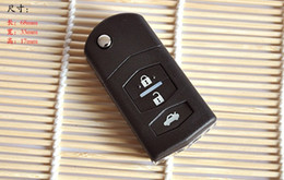 Wholesale Mazda Rx8 Remote - Free Shipping Key Shell for MAZDA 2 3 5 6 RX8 MX5 Flip Folding Remote key Case Fob Replacement 3B