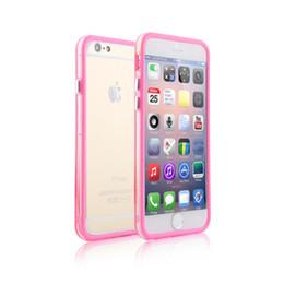 Wholesale Gel Cover Bumper S4 - For Iphone 6 Case Iphone 6 Plus Mat PC+TPU Soft Clear Transparent Gel Cover Cases For iphone 5 5S 4S Galaxy S6 S5 S4 Not 4 3 Bumper Case