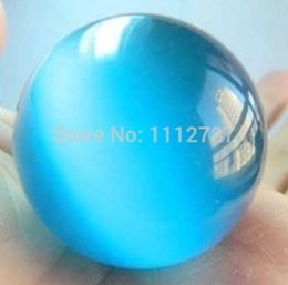 Wholesale Opal Sphere Crystal Ball - Wholesale-Charming!40mm Blue Mexican Opal Sphere Crystal Ball Jasper Beads Jewelry Natural Stone AAA GE4019