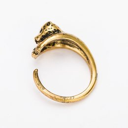 Wholesale Set Frog Plates - Hot Cake ONE PIECE Adjustable Leopard Animal Wrap Ring accessories antique Bronze silver Retro cute animaalloy animal ring ancient gold frog