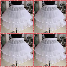 La ragazza di fiore veste sottoveste online-Alta qualità fiore ragazze petticoats breve sottogonna bianca per le ragazze di fiore abiti tutu un cerchio due strati crinolina per le ragazze abiti