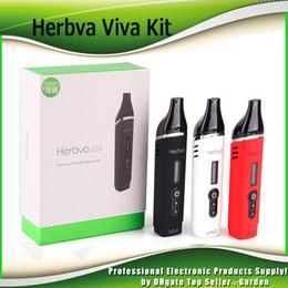 Wholesale Herb Ceramic Heating Chamber - Original Airis Herbva Viva Starter Kits 2200mAh Battery Dry Herb Vaporizer Vape Pen Kit With Ceramic Heating Chamber 100% Authentic