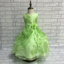 Wholesale Tutu Dresses For Low Prices - Pageant Ball Gowns For Girls Dress 2015 New Turquoise Flower Girl Dress Plus Size Kids Evening Dress Low Price