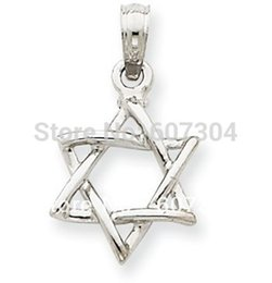 30 Unids / lote Aleación de Zinc Oro / Rodio Níquel y Sin Plomo Popular Estrella de David Religioso Joyería Colgante Encanto desde fabricantes