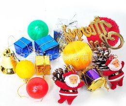 Wholesale Christmas Tree Plastic Bags - Free shipping15pcs bag Christmas decorations Christmas tree ornaments Set new year enfeites de natal beautiful noel christmas