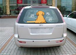 Bon autocollant de chien vif avec une queue qui remue pour la vitre arrière de la voiture et les essuie-glaces commander $ 18no track ? partir de fabricateur
