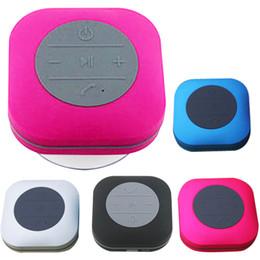 Wholesale Fitted Bathrooms - CBP Bluetooth Speakers Hand Free Built-in Microphone Waterproof Sucker Wireless Mini Portable Colorful Loudspeaker Fit Bathroom DHL MIS118