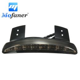 Wholesale Led Tail Lights For Motorcycles - 12V LED Motorcycle Brake Edge Tail Light For Harley XL883N 883L 1200C 1200L 1200N