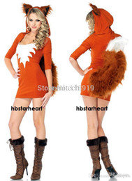 Wholesale Womens Animal Halloween Costumes - Wholesale-2015 New Adult Womens Sexy Halloween Party Charming Fox Costumes Outfit Fancy Animal Cosplay Dresses