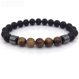 Wholesale Gold Tiger Jewelry - Yellow tiger stone beads Bracelets Men and women Natural Stone Beads For Women Men Jewelry pulsera hombres