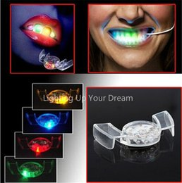 Wholesale Decorated Dresses - 2015 Halloween LED Flash Light Mouth Guard toys 5 Colors Party Glowing Tooth Toy decorate club Fashion dress free shipping