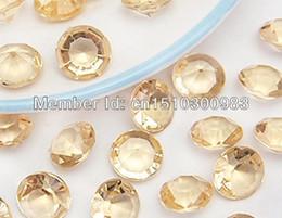 Wholesale Diamond Confetti 4ct - Wholesale-500pcs Top Faux acrylic Gold Shadow 4ct(10mm) Diamond Confetti Wedding Party Table Scatter Decoration ,Wedding Favors Supplies