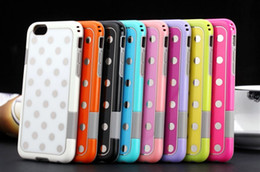 "Wholesale Hybrid Polka Dots - Hybrid Case for iphone 6 case Shockproof drop PC + TPU Korea Fashion Polka Dot case Cover for apple iphone 6 4.7"" 6 Plus 5.5"""