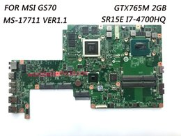 Wholesale Msi Mini - Classy Quality Laptop Motherboard For MSI GS70 Laptop with CPU SR15E I7-4700HQ GTX765M 2GB DDR3 100% Fully Tested