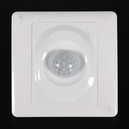 Wholesale Led Lighting Motion Sensor Switch - 2016 New Arrival Infrared IR Body Motion Sensor Auto Wall Mount Control Led Light Switch