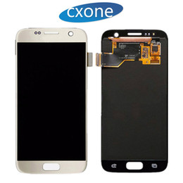 Wholesale Oem Lcd - OEM Gold Silver Black White Touch Screen Digitizer Assembly Replacement For Samsung Galaxy S7 Lcd Display Without Frame Bezel Free DHL Ship