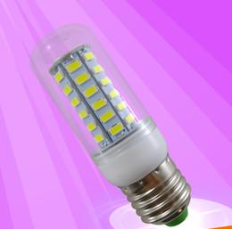 Wholesale Corn Type E27 Lamps - E27 E14 B22 SMD5730 48pcs Chips 360 Degree LED Corn Lamp 3W 220V 110V PC E27 Base Type LED Corn Light