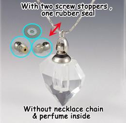 Flacons de parfum en Ligne-5 pièces gros trou diamant coeur-verre parfum huile essentielle pendentif flacon, verre flacon flacons en cristal pendentif arôme