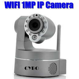 Wholesale Ip Camera Mega Wifi - HD Mega Pixels 720P Wireless IP Camera WIFI Pan Tilt IR Plug And Play network surveillance webcam sd tf micro card slot audio
