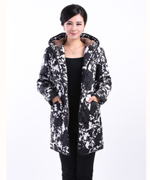 Wholesale Hooded Dress Coats Women - Wholesale-2015Parkas Padded jacket winter new winter coat hooded elderly mother dress fertilizer to increase cotton Women's Clothing
