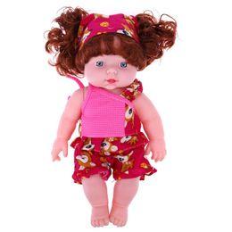 Wholesale Lifelike Inflatable Dolls - Wholesale- 30cm Baby Girls Doll Speaking Sound Toy Soft Plastic Lifelike Newborn Baby Doll for Girl Christmas Birthday Gift