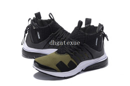 Wholesale Open Box Sales - Free Shipping ACRONYM x Air Presto Mid Olive basketball shoes Mens ACRONYM x Air Presto Mid Olive Sneakers For Sale [With Box]