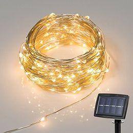 Wholesale Foot Powered - 150 LED 72 Feet LED Solar Powered String Light 2 Modes Steady on Flash Starry Silver Copper Wire Light Solar Fairy String Light MY4KEYPZVV