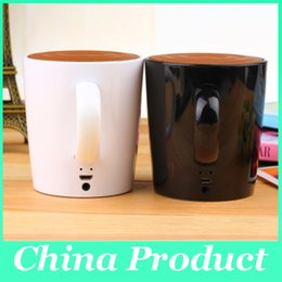Wholesale Gifts For Music Lovers - New Tea Cup Portable Speaker Bluetooth Wireless Records As Gift For Your Lover Stereo Music Bluetooth 4.0 ED 010102