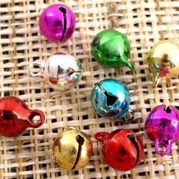 Wholesale Jingle Beads - 100 Jingle Bells~christmas Mixed Colors~beads Charms 6mm