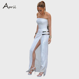 Wholesale Dress Pants For Ladies - new fashion celebrity style women's backless jumpsuits ladies sexy rompers pants dress bodysuits white jumpsuit for women 2016