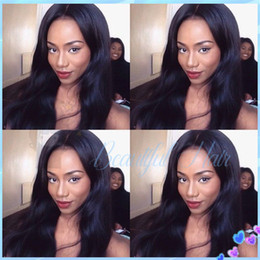 Wholesale Long Brown Wavy Wigs Prices - Discount price human hair front lace wigs&full lace wigs wavy natual color virgin indian hair wigs free shipping