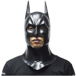 Wholesale New Star Toys - New Batman Masks Adult Halloween Mask Full Face Latex Caretas Movie Bruce Wayne Cosplay Toy Props